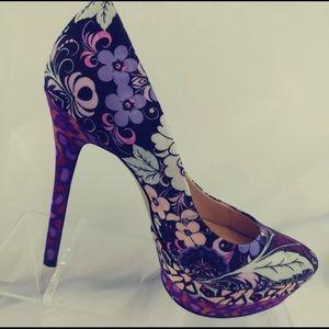 Nine West Womens ShoesFloral Pumps Platform